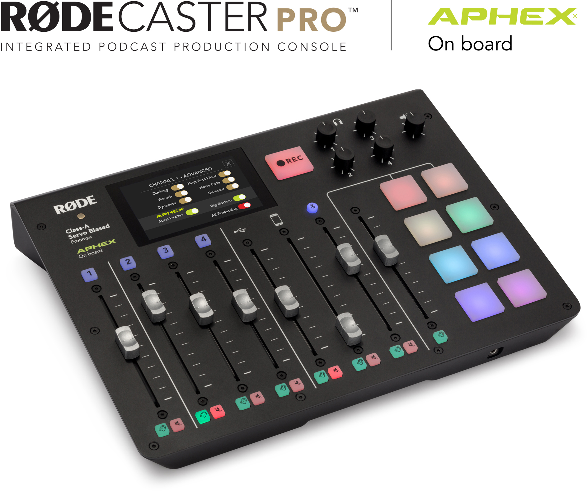RØDECaster Pro with APHEX on board